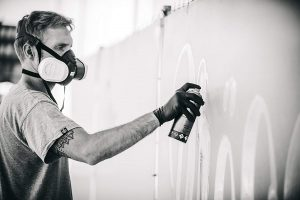 masque de protection peinture