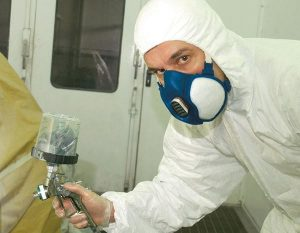 masque de protection pour la peinture